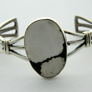 navajo handmade white buffalo turquoise with sterling $240