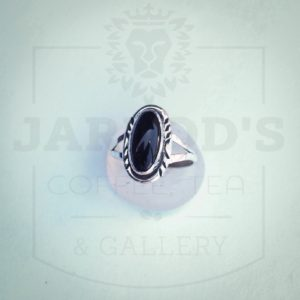 Sterling silver black onyx ring 7 12 $42 14 x 12