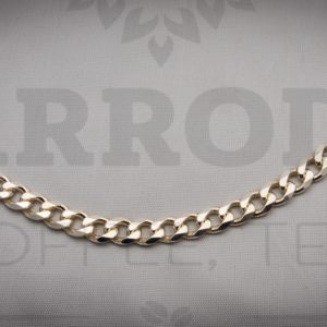 Sterling silver curb frequency bracelet $475