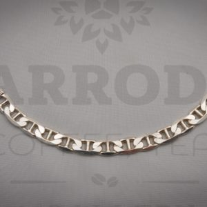 Sterling silver wide mariner frequency bracelet $575